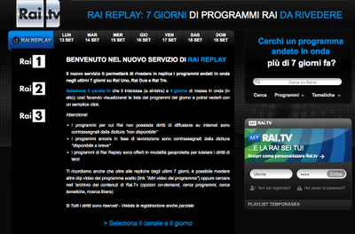 Tv convergente: Rai Replay finalmente su decoder e tv