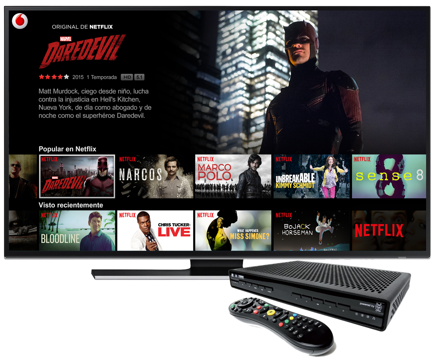 tv on demand vodafone netflix